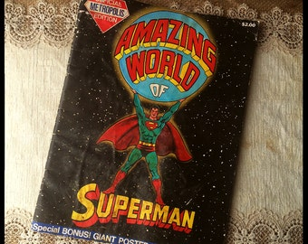Amazing World of Superman Vintage Comic and Activity Book FREE SHIPPING