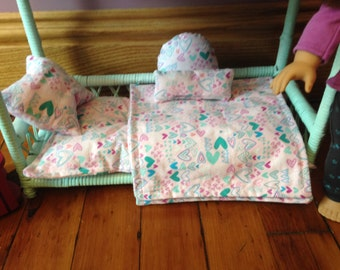 "SOLD 18"" Doll Furniture/bed/ bunk bed/bedding/dresser/ accessories/ mattress"