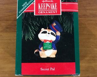 Hallmark Keepsake Ornament 1992 Secret Pal Racoon