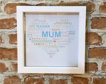 Mum Word Cloud Frame
