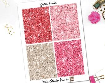 Secret Love Glitter Headers/Planner Stickers for Erin Condren Lifeplanner/Happy Planner Stickers/Glitter Header/Glitter Sticker