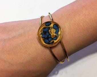 Ravenclaw Bracelet // Harry Potter Bracelet // Hogwarts Bracelet // Gold and Blue Bracelet // Harry Potter Cuff Bracelet // Ravenclaw