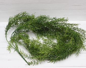 Artificial asparagus Artificial vine Artificial stem Green filler Plastic leaves Artificial leaves Artificial bouquets Faux floral-item 4794