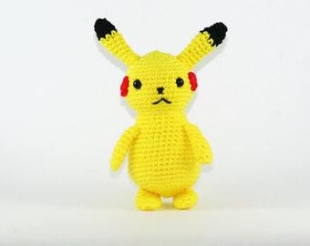 Pikachu crochet plush, pikachu amigurumi, pokemon plushies, pokemon amigurumi, pokemon gift, pikachu party, pikachu gift, crochet,  Pokemon