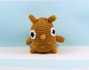 Owl plush crochet, owl amigurumi, owl toy crochet, owl decor, owl gift, owl lover, decoration animal, mini animal crochet, mini animals
