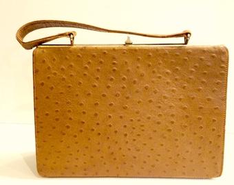 Vintage 1950's Ostrich Skin Bag