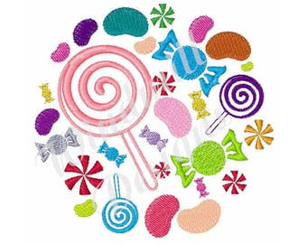 Candy Sweets - Machine Embroidery Design