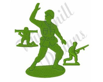 Green Army Men Toys - Machine Embroidery Design