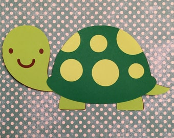 Turtle die cuts, Turtle die cut, Turtle Party, Turtle Birthday Party Decorations,, Turtle Cut Outs, Turtle Scrapbook, Turtle Class Teacher