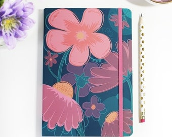 Journaling Bullet Journal Hardcover Floral Stationery Cute Agenda