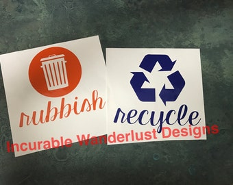 Recycle / Rubbish decals