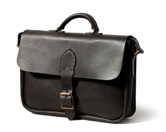 Cowhide Leather Briefcase / Messenger Bag - handstitched & vegetable tanned - made to last a lifetime!