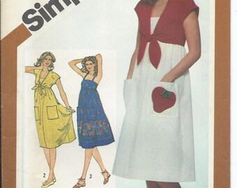 Simplicity, 5139, Misses, Sundress. Misses Bolero, Sewing Pattern, Womens, Tied Bolero,  Misses Shrug, Vintage 1981,  Size 12, Uncut
