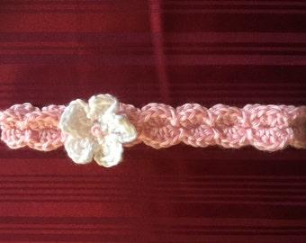 Baby Headband, Crochet Pink ear warmer, Gift for Baby, Baby girl