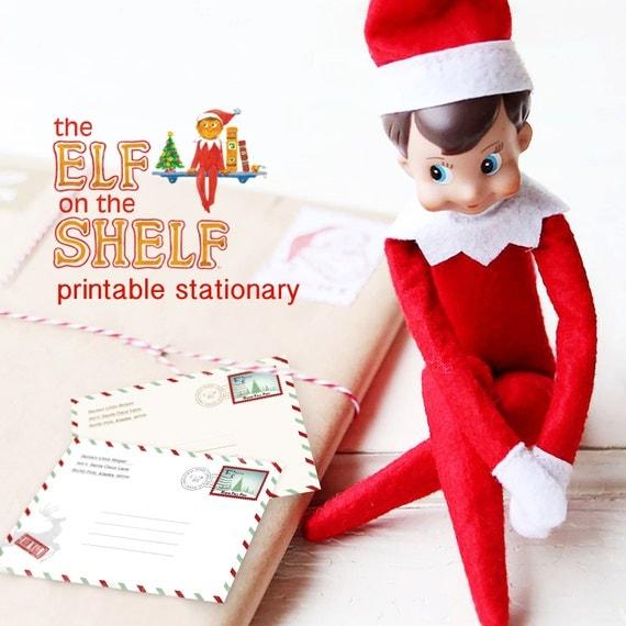 elf on the shelf letter, diy elf letter, mini christmas stationary ...