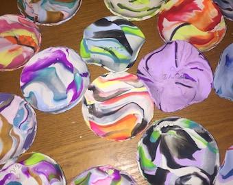 Clay ring dish marble bowls