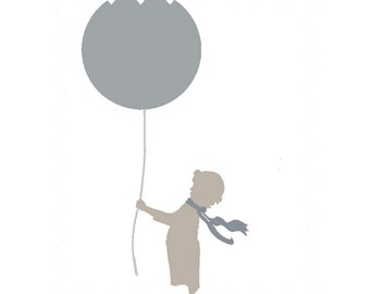 Fitted Cot Sheet - Grey Balloons