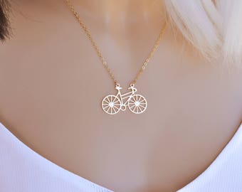 Bicycle Pendant, Bicycle Necklace, Statement Necklace, Long Necklace, Unique Necklace, Gift, Everyday Necklace,Tiny Bicycle Necklace,Bicycle