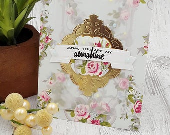 handmade mother's day greeting card (A2 size)