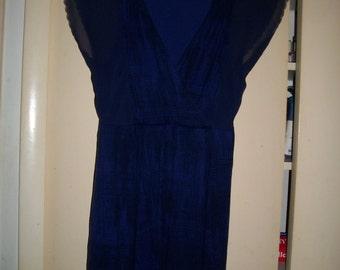 Banana Republic Vintage 90s Royal Blue Knit Dress Size 4