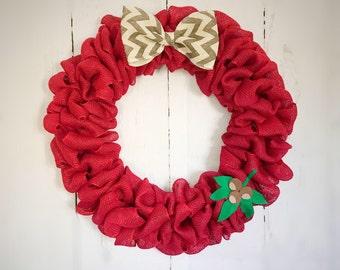 Ohio State door wreath
