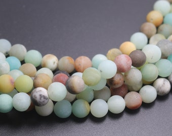 Matte Amazonite beads,Multicolor Matte Amazonite Beads,4mm/6mm/8mm/10mm/12mm Natural Gemstone round beads,15 inches one starand