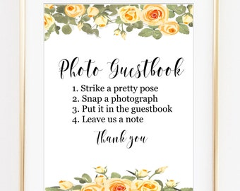 Photo Guestbook sign, photo wedding sign, selfie wedding sign, wedding signs, printable sign, guestbook printable, digital download