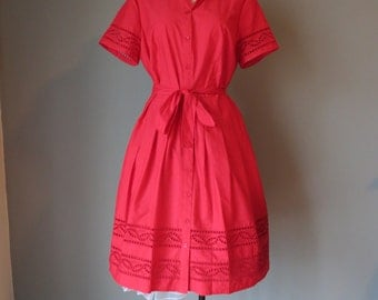 1950's Inspired Red Day Dress