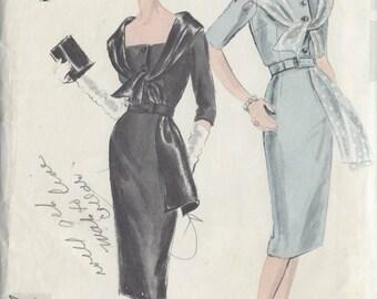 "1959 Vintage VOGUE Sewing Pattern B38"" DRESS (R96)   Vogue 4040"