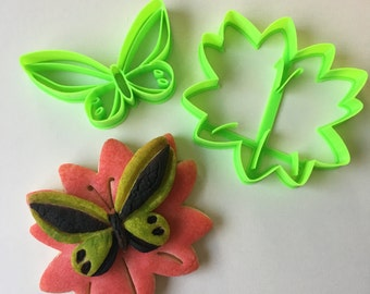 Butterfly on Flower Cookie Cutter Set