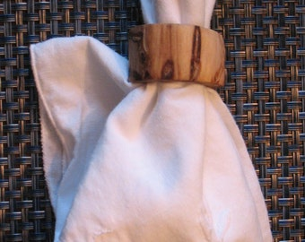 Rustic Wood Napkin Rings
