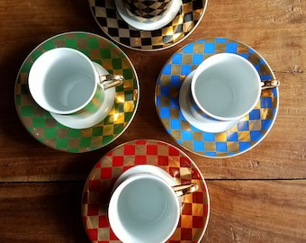Neiman Marcus Harlequin Tea Set