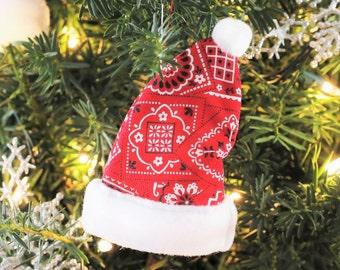 Cowboy Christmas Ornaments Cowboy Christmas Decoration Christmas Bandana  Rustic Christmas Tree Ornaments Rustic Christmas Tree Decorations