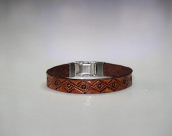 Leather bracelet, leather bracelet
