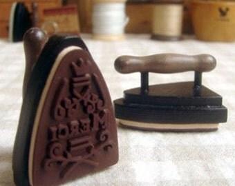 Vintage small iron wood stamp
