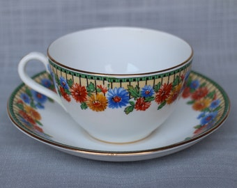 Antique Aynsley Marguerite Tea Cup and Saucer, Floral Aynsley Bone China, England, Gift for Her