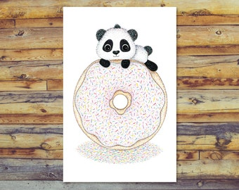 Panda Card, Printable Cards, Blank Greeting Cards, Digital Download Art, Instant Download, All Occasion Cards, Digital Printable, Cute Panda