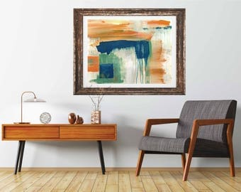 Big Fish giclee art print, original abstract painting print, modern art print, modern interior decor, mid century modern, minimal art, art