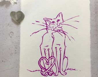 Love - cat couple (violet)
