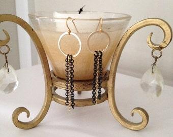 Edgy chain earrings