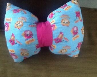Shopkins bow tie pillow, kids bedding, kids pillows shopkins