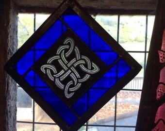 Gift-for-Mom, Irish Gift for Mom, Celtic knot, Irish Decor, Sun Catcher, Irish Sun Catcher, Blue Window Decor, Celtic gift for Mom,