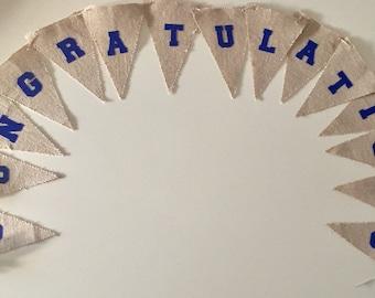 Burlap congratulations banner