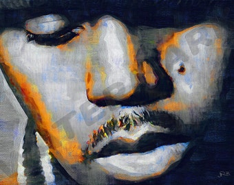 Nas Art Print - Rapper Oil Painting Poster  LFF0133