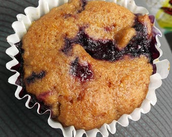 Lemon Blueberry Muffins (All Natural, Organic, Vegan Friendly)