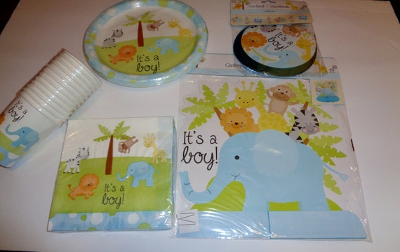 baby shower party supplies its a boy animal theme baby boy shower