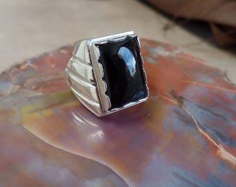 Impressive Men's Black Onyx Ring 1300x