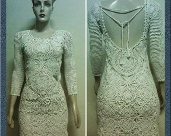 Crochet dress . Handmade .  Designer crochet dress . Dresses. Cloting  dresses