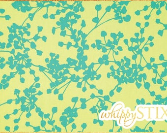 Discontinued! Amy Butler Fabric By the Yard, Coriander Blue Amy Butler for Rowan Fabrics AB-07, BTY Blue Yellow Cotton Quilting Fabric, OOP