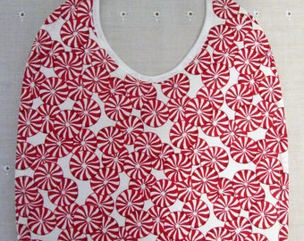 Christmas Peppermint Candies Baby Bib 100% Cotton Quilted/Absorbent